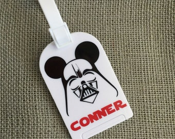 Mouse Vader luggage tag