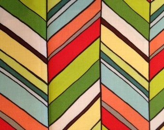 """PAULA PRASS Botanika Collection for Michael Miller: """"New Chevron"""" in Meadow, 19"""" by 22"""" cotton print quilting fabric OOP Gorgeous!!!"""