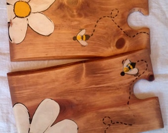 Two Daisy Bee Party Platters