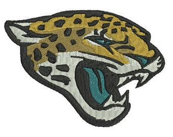 Jacksonville Jaguars Football Team Logo Machine Embroidery Design, instant download machine embroidery pattern - 4 sizes
