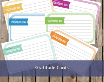 Gratitude Cards - Children's Etiquette - Thankful Cards - PDF INSTANT DOWNLOAD - 3 Pages