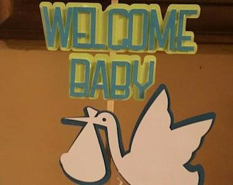 Baby Shower Centerpiece Boy Girl Its A boy Girl Centerpiece- Baby boy Girl centerpiece -Stork centerpiece- Its A Boy Girl Baby Shower