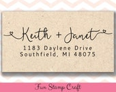 Personalized Return Address Stamp - Custom Rubber Stamp - Custom Return Address Stamp - Custom Stamp - Personalized Address Stamp - RA060