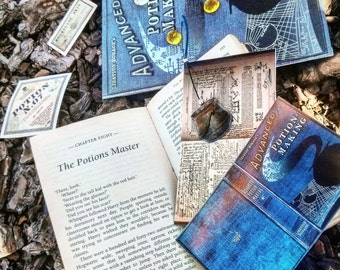 Harry Potter Potions Book//Handmade: Bookmark