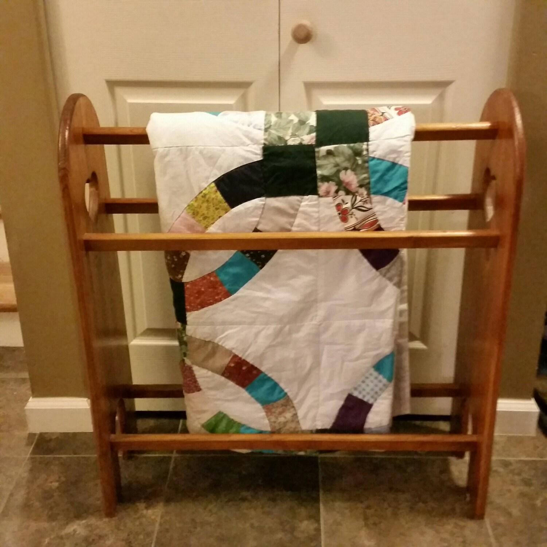 Vintage Pine Wood Quilt Rack