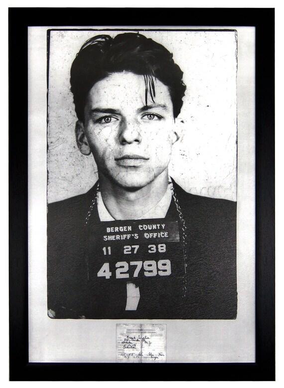 Frank Sinatra Mug Shot 24x36 Framed Poster By Eliteframe