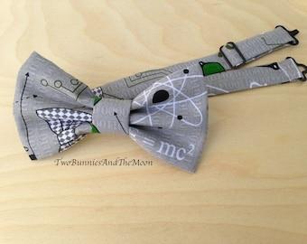 Math Science Bow Tie. Adjustable Bowtie.Wedding Bow tie