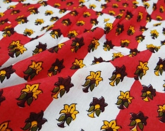 """Indian Multicolor Cotton Fabric Dress Making Material 40"""" Wide Indian Sewing Crafting Material Decorative Fabric By 1 Yard ZBC5251"""