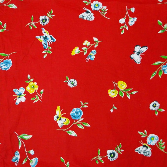 Red floral fabric decorative drape fabric beautiful for Designer fabric suppliers