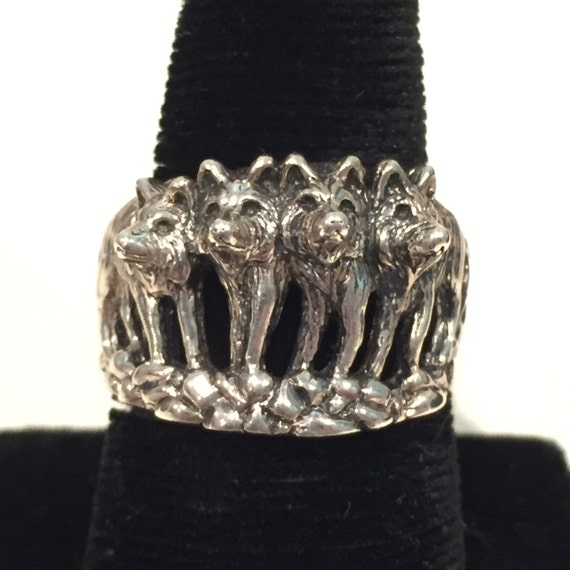 Wolf pack ring - photo#5