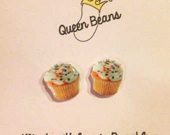 Vanilla Cupcake Stud Earrings