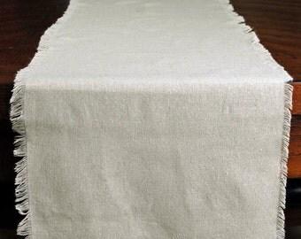 "Linen  Table Runner 12.5"" x 120"", Wedding Table Decor"