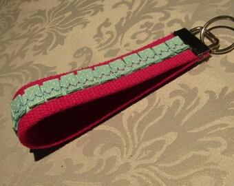 Key Fob Wristlet - Mint Green