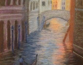 Venice: Soft pastel painting
