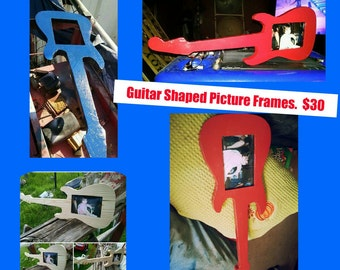 guitar picture frames home decor picture frames unique picture frames - Unique Picture Frames