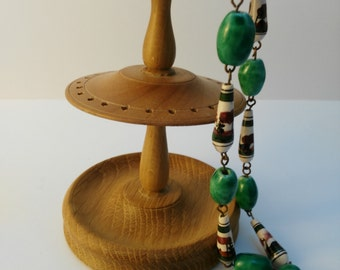Vintage Hand Painted Bead Necklace