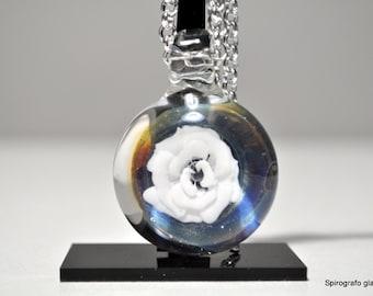 100% borosilicate glass pendant, handmade