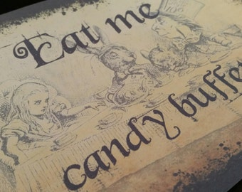Printable DIY Wedding Candy Lolly Buffet Bar Sign  - Down The Rabbit Hole