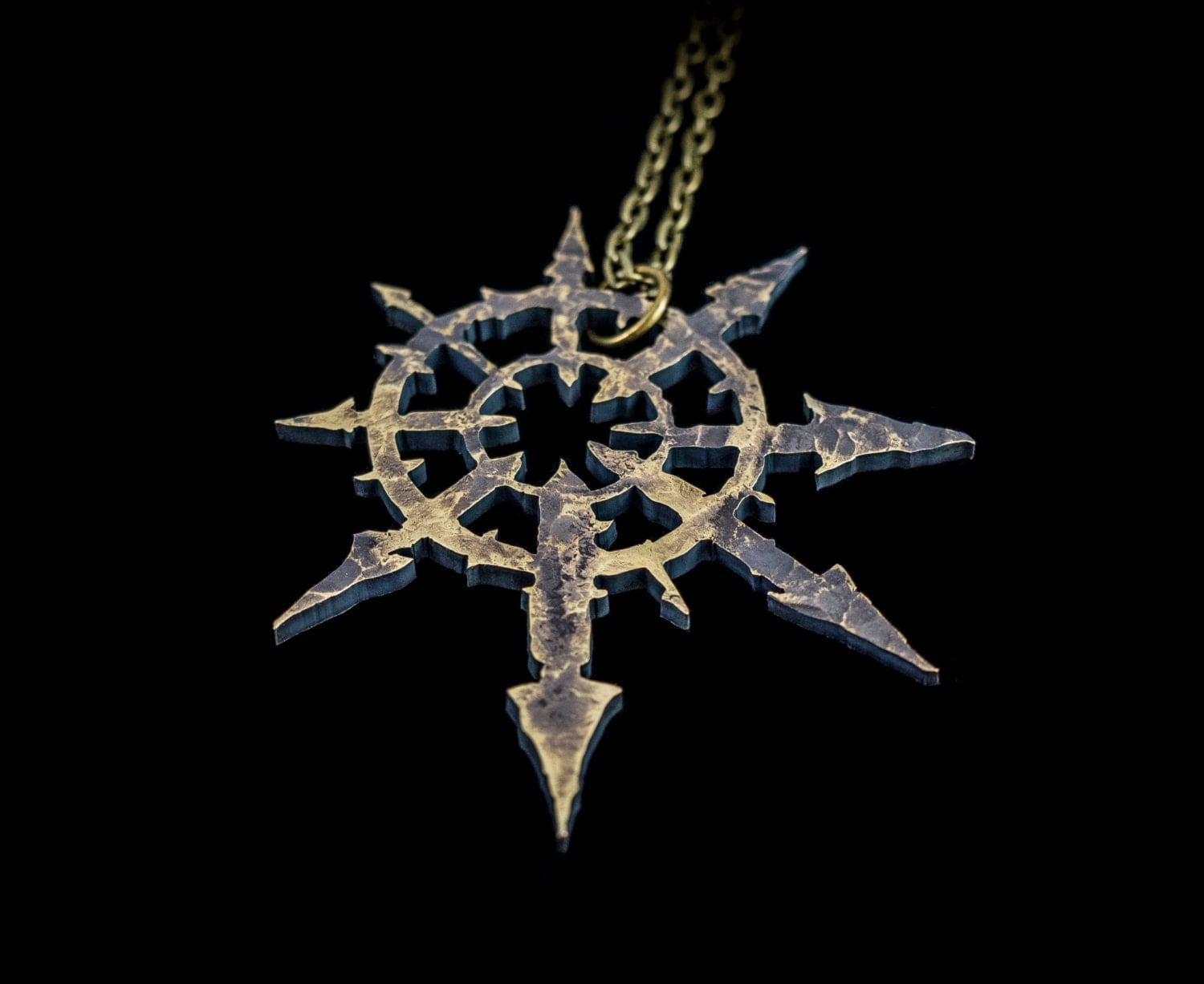 chaos symbol warhammer 40k pendant necklace by suvali