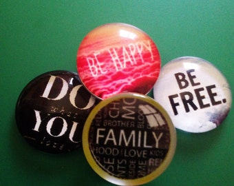18 mm Be Free/Family/Be Happy/Do What You Love Inspiring Message Snap Button Women Men Jewelry Necklace Bracelet Ring Earrings