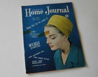 July 1964 Australian Home Journal Magazine with free patterns