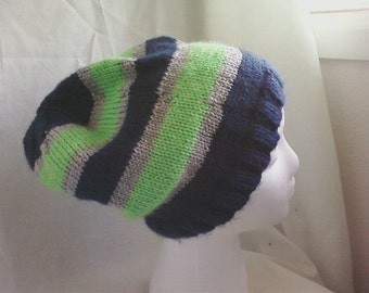 Seahawks stiped slouch hat