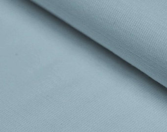 Light Baby Blue Ribbing Stretch fabric for cuffs and waistbands