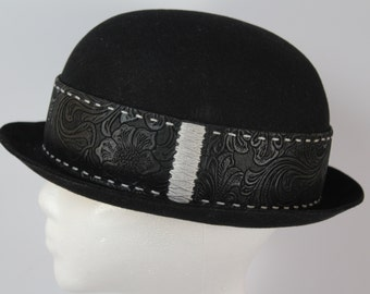 Custom hand stitched bowler hat