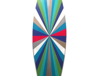 Surf Board - Surfboard - Wood replica of Surf board - painted surf board -