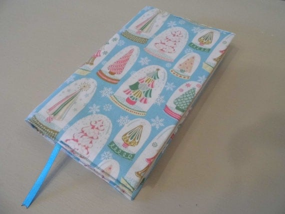 Fabric Book Covers For Sale : Sale pretty christmas handmade fabric book cover