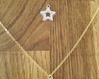 Lovely gold plated star necklace