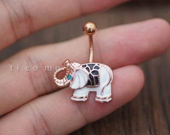 belly ring belly button ring belly button jewelry white elephant boho bohemian jewelry