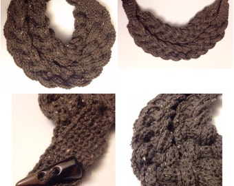 Crochet cowl - necklace - scarf