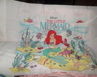 Vintage The Little Mermaid Pillowcase NWOTS Fresh unwashed New