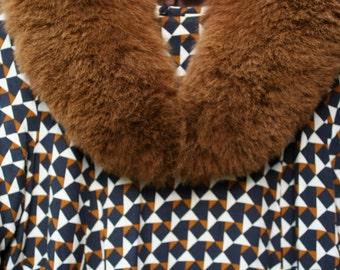 SALE - REBAJAS - Real Fur Baby Alpaca Fur Stole Colour Biscuit - Fur Accessories - Fur Scarf- Fur Stole - Fur - Real Fur -