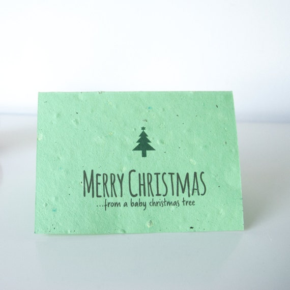 Reindeer Poo Christmas tree seeded cards. Re-grow after use! Multi-Pack.