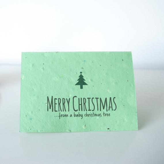 Reindeer Poo Christmas tree seeded cards. Re-grow after use! Multi-Pack.