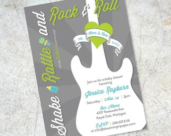 Shake Rattle & Roll Baby Shower Invitation