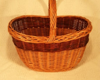 Wicker shopping basket 020