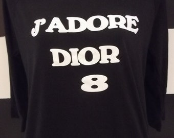 J' Adore Dior T-shirt Long Sleeve Tee All sizes and Color 100% cotton