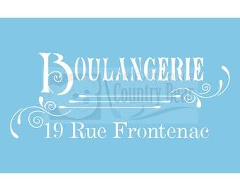 Stencil - Boulangerie - ST-057