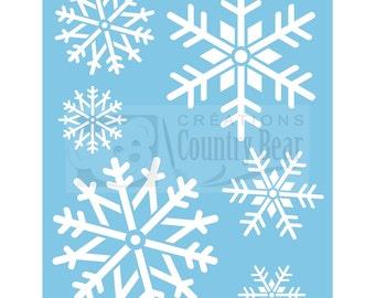 Stencil - XLarge Snowflakes - ST-044