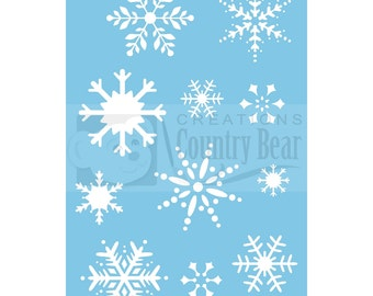 Stencil - Snowflakes 1 - ST-019