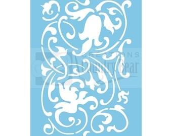 Stencil - Baroque Background - ST-008