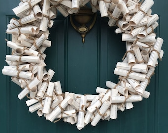 Handmade The Count of Monte Cristo Upcycled Paper Wreath