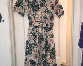 Vintage 1980s leopard print dress size 5/6