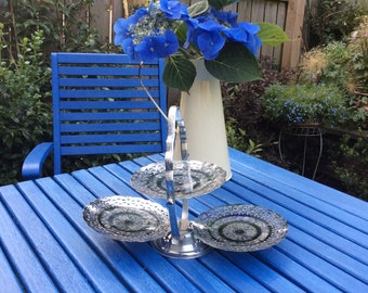 Fold Up Silver Plated Cakestand