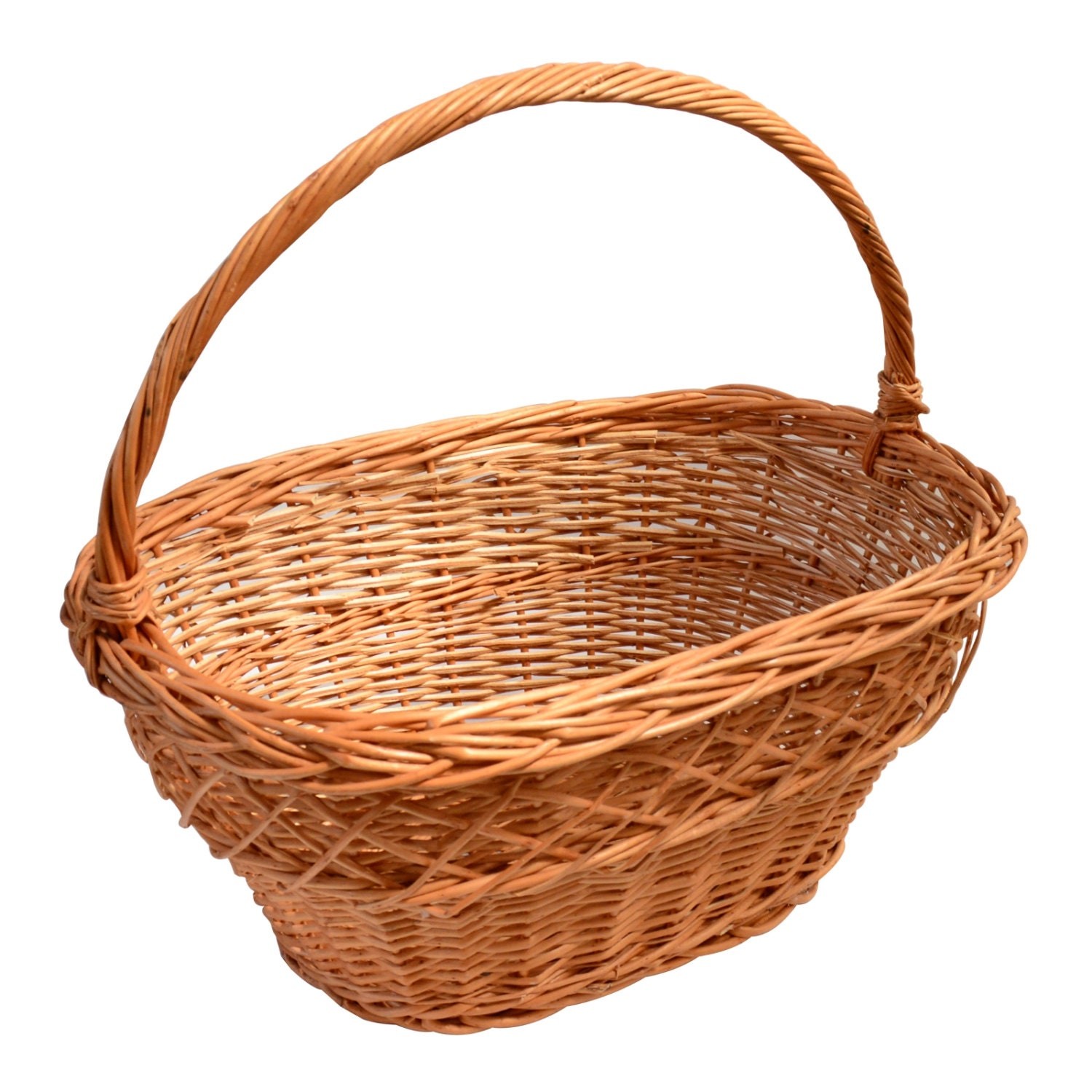 Large Willow Wicker Basket Laundry Hamper With By Handmadegroup
