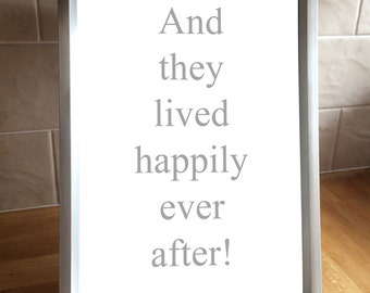 A4 print 'And they lived happily ever after'