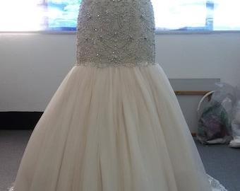 Blush Pink Trumpet Wedding Bridal Gown
